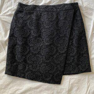 Madewell Black Lack Asymmetrical Skirt - Size 2